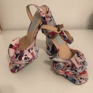 Floral Chunky Heel